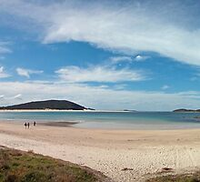 Fingal Bay Panoramic by David  Kembrey