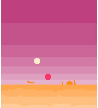 Pixel Tatooine Landscape Sticker