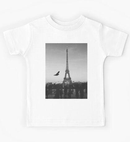 Black and white Paris Kids Tee