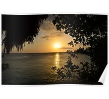 Sunset - Ricks Cafe - Negril, Jamaica Poster
