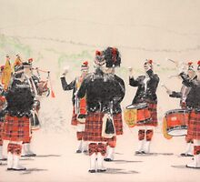 Lithgow Highland Pipe Band 2 by Peter Brandt