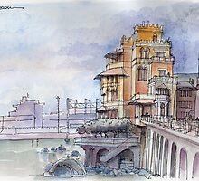 Castello sul mare by Luca Massone  disegni