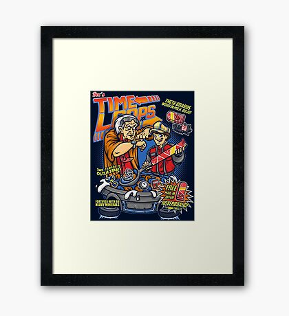 Time Loops Framed Print