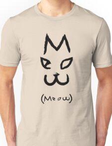"""Meow"" Cat Unisex T-Shirt"