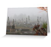 Foggy Morn in Goulburn Greeting Card