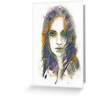 Cloak Portrait Greeting Card