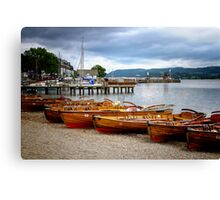 Rowing Boats Ambleside Canvas Print