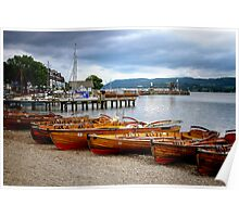 Rowing Boats Ambleside Poster