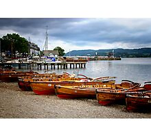 Rowing Boats Ambleside Photographic Print