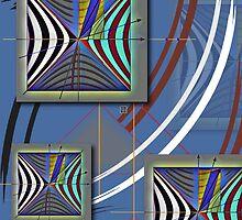 """Minkowski Lightcone Lorentz Transformation""© by Lisa Clark - Thinker Collection STEM Art and MORE"