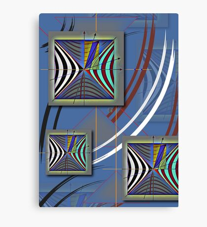 """Minkowski Lightcone Lorentz Transformation""© Canvas Print"