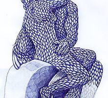 Rodin's The Kiss in Blue by Donna Huntriss