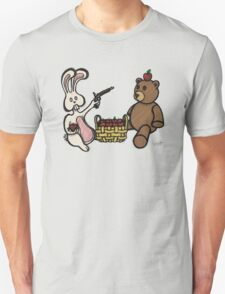 Teddy Bear And Bunny - A Dangerous Game T-Shirt