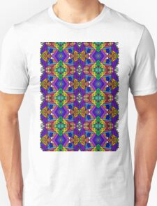 Colorful Psychedelic Pattern - Blue 1 T-Shirt