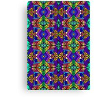 Colorful Psychedelic Pattern - Blue 1 Canvas Print