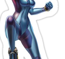Zero Suit Samus (Smash 4) Sticker