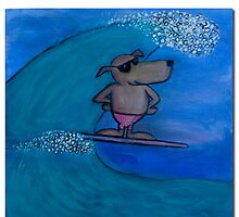 Rastus Surfing by Clint Smith
