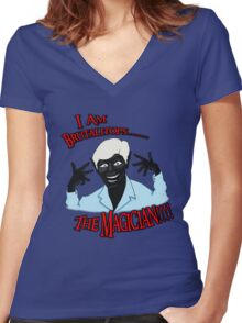 Brutalitops...the magician Women's Fitted V-Neck T-Shirt