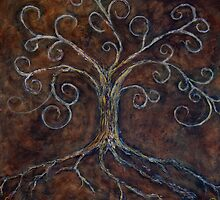 Tree of Life ( golden ) by Clint Smith