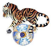 Balancing Tiger Photographic Print