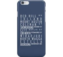 Wagga Bus Roll - Blue, Route 1 iPhone Case/Skin