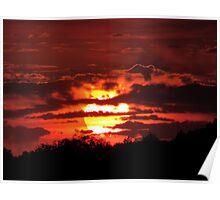 Blazing Sunset in September Poster