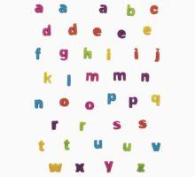 """Alphabetic Fridge """"Magnets"""" Kids Clothes"""