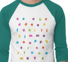 "Alphabetic Fridge ""Magnets"" Men's Baseball ¾ T-Shirt"