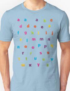 "Alphabetic Fridge ""Magnets"" Unisex T-Shirt"
