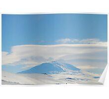 Mt. Erebus Volcano McMurdo Station - Antarctica Poster
