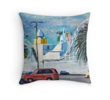 Sunny day at Luna Park Throw Pillow