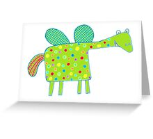 Rainbow Polka Dot Dragon Card Greeting Card
