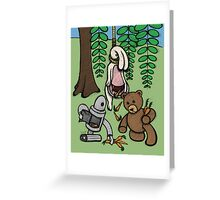 Teddy Bear And Bunny - Making The Most Of It Greeting Card