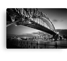 Sydney Harbour Bridge Black & White Canvas Print