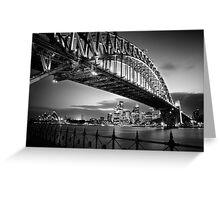 Sydney Harbour Bridge Black & White Greeting Card
