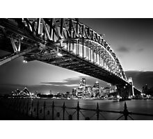 Sydney Harbour Bridge Black & White Photographic Print