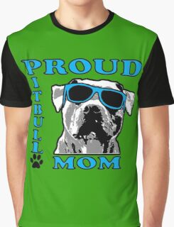 PROUD PIT BULL MOM 2 Graphic T-Shirt