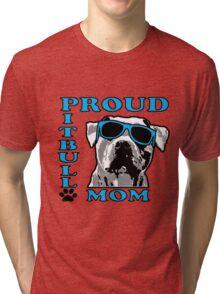 PROUD PIT BULL MOM 2 Tri-blend T-Shirt