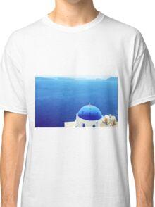 Grecian Chapel, Oia, Santorini  Classic T-Shirt