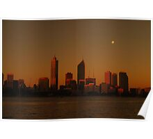 Perth - Dusk Through Sunglasses Poster
