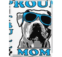 PROUD PIT BULL MOM 2 iPad Case/Skin