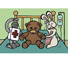 Teddy Bear And Bunny - She Left Me Photographic Print