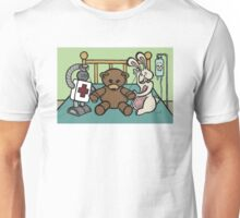 Teddy Bear And Bunny - She Left Me Unisex T-Shirt