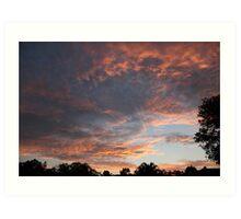 Sunset Over Parkwood, South East Queensland Art Print
