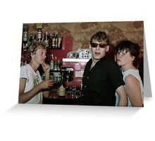 Dutch rockers in French bar Greeting Card