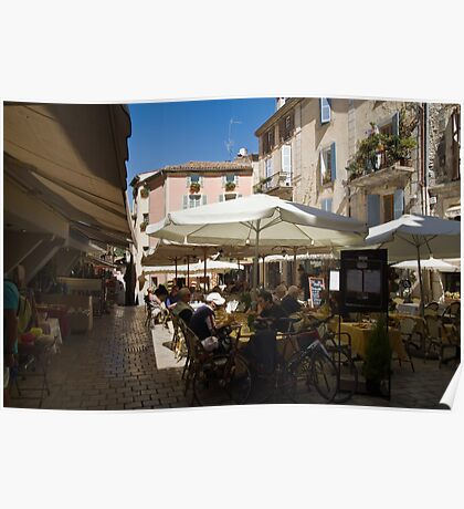 Cafe's at Vence Hill Town Cot D Azur Poster