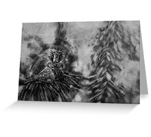 Barbary Macaque and Infant Greeting Card