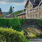 The Bridge in BeddGelert North Wales UK by AnnDixon
