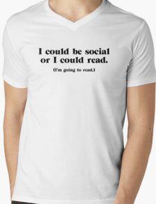 I Could be Social Mens V-Neck T-Shirt