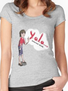 The Y.O.L.O Internet Geek Women's Fitted Scoop T-Shirt